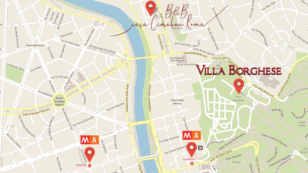 Come Arrivare e cosa Trovare Nei IDntorni di Casa Cimabue Roma